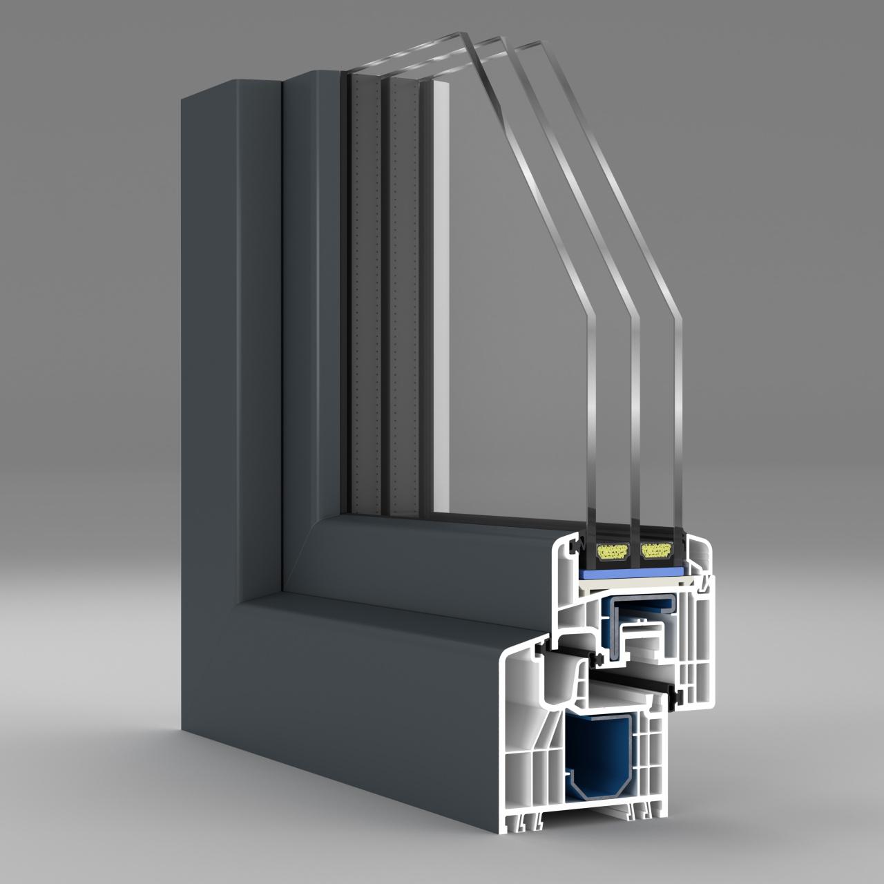 PVC-Fenster - Fasada